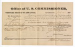 1881 July 25: Voucher, U.S. v. Peter Johnson, larceny in the Indian Country; includes cost of per diem and mileage; Wesley McKenney and William Edwards, witnesses; G.H. Williams, witness of signatures; V. Dell, U.S. marshal; Stephen Wheeler, commissioner