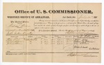 1881 July 25: Voucher, U.S. v. William Wilson, assault with intent to kill in the Indian Country; includes cost of per diem and mileage; Peter Fry, William Robinson, and John Williams, witnesses; G.H. Williams, witness of signatures; V. Dell, U.S. marshal; Stephen Wheeler, commissioner
