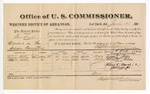 1881 July 28: Voucher, U.S. v. Ben Kiah, murder in the Indian Country; includes cost of per diem and mileage; Lizzie Billy and Charles Billy, witnesses; J.M. Huffington, witness of signatures; V. Dell, U.S. marshal; Stephen Wheeler, commissioner