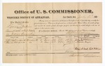 1881 July 30: Voucher, U.S. v. Lyman Perkins, assault with intent to kill in Indian Country; includes cost of per diem and mileage; John Robinson and Thomas Morgan, witnesses; G.H. Williams, witness of signatures; V. Dell, U.S. marshal; Stephen Wheeler, commissioner