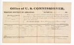 1881 September 1: Voucher, U.S. v. William Lohman, assault with intent to kill; includes cost of per diem and mileage; Calvin Hall and Elisha Frazier, witnesses; V. Dell, U.S. marshal; Z.L. Cotton, commissioner