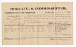 1881 September 10: Voucher, U.S. v. William Watson, larceny in the Indian Country; includes cost of per diem and mileage; W.A. McGaughy, James Davis, and James Odle, witnesses; G.H. Williams, witness of signatures; V. Dell, U.S. marshal; Stephen Wheeler, commissioner