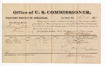 1881 September 12: Voucher, U.S. v. William Watson, bribery; includes cost of per diem and mileage; Bass Reeves and Frank Tucker, witnesses; G.H. Williams, witness of signatures; V. Dell, U.S. marshal; Stephen Wheeler, commissioner