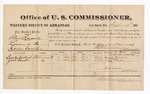 1881 September 12: Voucher, U.S. v. Silas Russell, larceny in the Indian Country; includes cost of per diem and mileage; Byinston Colbert and Zack Cheadle, witnesses; G.H. Williams, witness of signatures; V. Dell, U.S. marshal; Stephen Wheeler, commissioner