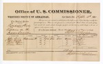 1881 September 13: Voucher, U.S. v. Randall Stick, larceny in the Indian Country; includes cost of per diem and mileage; John Davis, Alex Wolfe, Davis Brown, and Lorna Brown, witnesses; G.H. Williams, witness of signatures; V. Dell, U.S. marshal; Stephen Wheeler, commissioner