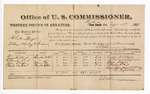 1881 September 29: Voucher, U.S. v. Charles Nayes, selling whiskey to Indians; includes cost of per diem and mileage; George W. Ward, Alexander Ward, John Shoden, and Martin W. Dial, witnesses; M. McLoney, witness of signatures; V. Dell, U.S. marshal; E.B. Harrison, commissioner