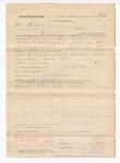 1882 January 29: Partial Voucher, U.S. v. Nate Kerriman, contempt; includes cost of warrant, mileage, and feeding prisoner; L.M. Edwards, posse comitatus; John Richardson, guard; George W. Pound, U.S. deputy marshal