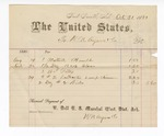 1881 October 31: Voucher, to W.N. Ayers; includes cost of glass, putty, and other items for the U.S. jail; V. Dell, U.S. marshal