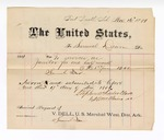 1881 November 17: Voucher, to Samuel Dean; includes cost for services as janitor for one half month; V. Dell, U.S. marshal; Stephen Wheeler and G.S. Williams, clerk