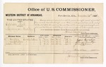 1881 November 21: Voucher, U.S. v. Addison Beck, larceny in the Indian Country; includes cost of per diem and mileage; Cyrus Cornater, Lynyus Cornater, and Jackson Blevin, witnesses; G.A. Williams, witness of signatures; V. Dell, U.S. marshal; James Brizzolara, commissioner