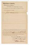 1881 December 1: Venire facias, commanding the summons of J.C. Wilkinson, as petit juror; Isaac C. Parker, judge; Stephen Wheeler, clerk; V. Dell, U.S. marshal; G.S. Williams, U.S. deputy marshal