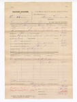 1882 February 1: Partial Voucher, U.S. v. Tom Brown, introducing spirituous liquors in the Indian Country; includes cost of warrant, mileage, and feeding prisoner; G.A. Beckle and Lizzie George, witnesses; L.M. Edwards, posse comitatus; George W. Pound, U.S. deputy marshal; Stephen Wheeler, commissioner