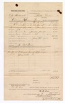1882 February 03: Voucher, U.S. v. L.J. Hardcastle, violation of internal revenue laws; includes cost of transportation, feeding one prisoner, and mileage; W.A. Cox, deputy; J. McNeir, guard; A.J. Looper, witness; Stephen Wheeler and G.S. Williams, clerks