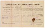 1882 January 24: Voucher, U.S. v. Charity Book, larceny; Z.L. Cotton, commissioner; James S. Colburn, Grauvette Brown, witnesses; includes costs of per diem and mileage for witnesses; received of V. Dell, U.S. marshal; John G. Farr, witness of signatures