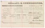 1882 January 28: Voucher, U.S. v. Clarence Clark, larceny in Indian Country; Stephen Wheeler, U.S. Commissioner; B.J. Carter, J.P. Rogers, A.G. Job, witnesses; includes costs of per diem and mileage for witnesses; received of V. Dell; G.S. Williams, clerk