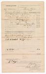 1882 February 08: Voucher, U.S. v. J.P. Blaylock, violating internal revenue laws; includes costs of mileage, transportation, and feeding one prisoner and one deputy; John Hack, One Coker, and H. Rogers, witness; J. Ayer, deputy; V. Dell, U.S. marshal; Stephen Wheeler, commissioner, clerk; G.A. Williams, clerk