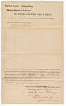1882 February 06: Venire facias, commanding the summons of Lewis Bolin, petit juror; Isaac Parker, judge; V. Dell, U.S. marshal; Fred G. Hicken, special deputy
