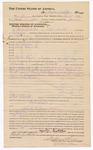 1882 March 11: Voucher, to Martin Sixkiller, of Fort Smith, Arkansas, for assisting Sam Sixkiller, U.S. deputy marshal, in U.S. v. Sam Gerard and U.S. v. James Barnett; includes payment for 15 days service as posse comitatus; issued by Stephen Wheeler, U.S. commissioner and clerk; G.S. Williams, clerk; V. Dell, U.S. marshal