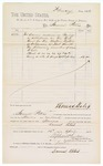 1882 April 15: Partial Voucher, to Samuel Peters; includes cost of services rendered as bailiff; paid by Thomas Boles, U.S. marshal; Stephen Wheeler and G.S. Williams, clerks