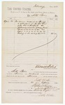 1882 April 21: Voucher, for services rendered as bailiff to Seth Boles; paid by Thomas Boles, U.S. marshal; Stephen Wheeler and G.S. Williams, clerks