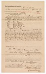 1882 May 08: Voucher, U.S. v. Ben Bruner; U.S. v. Robert Brown; U.S. v. Brown Williams; U.S. v. Ah-loc-har-Jo; U.S. v. Mike Audon (alias); U.S. v. Emon Dailey; Bass Reeves, U.S. deputy marshal;  issued by Stephen Wheeler, U.S. commissioner; Abe Payne; William McAuley, witness; Stephen Wheeler and G.S. Williams, clerks; Thomas Boles, U.S. marshal