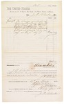 1882 April 29: Voucher, to J.P. Clarke; paid by Thomas Boles, U.S. marshal; Stephen Wheeler and G.S. Williams, clerks; includes cost of services rendered as crier in attendance before the U.S. court
