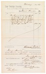 1882 April 30: Voucher, to Daniel Harrison for services rendered as janitor; Thomas Boles, U.S. marshal; Stephen Wheeler and G.S. Williams, clerks; John Paterson, witness to signatures