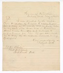 1882 May 14: Letter, from Robert Love, House of Correction, Detroit, Mich., to William Watie Wheeler, clerk; requesting a copy of records and evidence from Love's case in December 1877