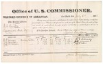 1882 July 04: Voucher, U.S. v. H.L. Hunter, larceny in Indian Country; includes costs of per diem and mileage for witnesses; B.F. Conway, J.H. Gammon, Jeff D. Wilson, witnesses; Thomas Boles, U.S. marshal; James Brizzolara, commissioner