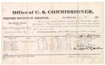 1882 July 05: Voucher, U.S. v. William McKinnon and Leon May, larceny in Indian Country; includes costs of mileage and per diem for witnesses; Turner Daniel, W. Cranford, Ellen Edens, Albert Edens, Connie Hotubee, witnesses; John Paterson, witness of signature; received of Thomas Boles, U.S. marshal; James Brizzolara, commissioner; William H.H. Clayton, U.S. attorney