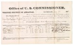 1882 July 07: Voucher, U.S. v. Silas Boyd (alias Silas Bigfoot), larceny in Indian Country; includes costs of mileage and per diem for witnesses; William Labor, Wesley Watkins, Rogers Fisher, Robert Collins, witnesses; John Paterson, witness to signatures; received of Thomas Boles, U.S. marshal; James Brizzolara, U.S. commissioner