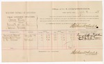 1882 July 10: Voucher, U.S. v. Henry Woods, assault with intent to kill in Indian Country; includes costs of mileage and per diem for witnesses; Emmanuel Spencer, Anthony H. McGregor, W.A. Westoner, witnesses; John Paterson, witness to signature; received of Thomas Boles, U.S. marshal; Stephen Wheeler, commissioner and clerk