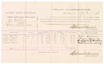 1882 July 11: Voucher, U.S. v. John Valentine, violating revenue laws;  includes costs of mileage and per diem for witnesses; John Dameron, Elmer Deemer, Isaac Martin, William Corderay, witnesses; John Paterson, witness of signature; received of Thomas Boles, U.S. marshal; Stephen Wheeler, commissioner and clerk