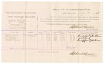 1882 July 12: Voucher, U.S. v. Jackson Tussick, larceny in Indian Country; includes costs of mileage and per diem for witnesses; Susan Hall, J.C. Ballard, Russell Tyson, witnesses; John Paterson, witness to signatures; received of Thomas Boles, U.S. marshal; Stephen Wheeler, commissioner