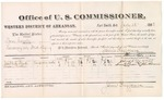 1882 July 13: Voucher, U.S. v. Sam Couch, larceny in Indian Country; includes costs of mileage and per diem for witnesses; Joseph Boyd, Susan Purdue, witnesses; John Paterson, witness to signatures; James Brizzolara, commissioner