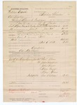 1882 February 06: Partial Voucher, U.S. v. William Brooks and Ed Kegley, giving liquor to Indians; includes costs of travel, feeding 2 prisoners; Pane Akern, John Pappen, John Pryor, Mary Pryor, Mary Akern, witnesses; Gus Chotean, interpreter; Ed Matthews, guard; Compton, posse comitatus; served by L.W. Marks, deputy; Stephen Wheeler, commissioner