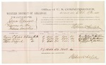 1882 October 17: Voucher, U.S. v. James Eldridge, larceny in the Indian Country; includes costs of mileage and per diem for witness; Nancy E. Raper, Lizzie Ross, Mary Wafford, witnesses; John Paterson, witness to signatures; received of Thomas Boles, U.S. marshal; Stephen Wheeler, commissioner