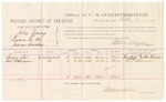 1882 October 18: Voucher, U.S. v. John Young, larceny in the Indian Country; includes costs of mileage and per diem for witnesses; George Lee, Levi Schuman, witnesses; John Paterson, witness to signatures; received of Thomas Boles, U.S. marshal; Stephen Wheeler, commissioner
