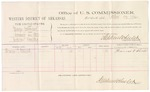1882 October 22: Voucher, U.S. v. George Cutchelon, larceny in the Indian Country; includes costs of mileage and per diem for witness; Thomas F. Stewart, witness; received of Thomas Boles, U.S. marshal; Stephen Wheeler, commissioner
