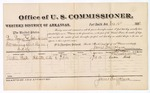 1881 October 16: Voucher, U.S. v. Ben Rogers and John Carlson, introducing spirituous liquors in the Indian Country; includes cost of per diem and mileage; Larken Beck, witness; James Brizzolara, commissioner; Thomas Boles, U.S. marshal