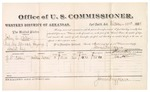 1882 December 23: Voucher, U.S. v. John A. Dellon, retail liquor dealer not paying special tax; includes costs of mileage and per diem for witness; G.L. Nolen, witness; received of Thomas Boles, U.S. marshal; James Brizzolara, U.S. commissioner