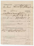 1883 July 07: Partial Voucher, U.S. v. One Frank, larceny; includes costs of mileage and 9 days feeding 1 prisoner; Eastman Wellington, Noah Orson, witnesses; served by J.W. Searle, deputy marshal; Stephen Wheeler and James Brizzolara, commissioners