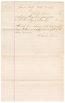 1883 January 19: Voucher, to Charles Burns; includes costs for feeding 1 mare; received from Thomas Boles, U.S. marshal; U.S. v. One Pony, Bridle Saddle