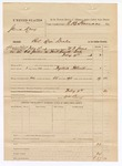 1883 February 04: Partial Voucher, U.S. v. James Lacy, retail liquor dealer; includes costs of mileage and 1 day feeding 1 prisoner; William Perry, guard; served by W.F. Jones, deputy marshal; E.B. Harrison, commissioner