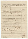 1883 May 28: Partial Voucher, U.S. v. One Blackwell and One Casey, larceny in the Indian Country; includes costs of mileage, 21 days feeding 1 prisoner; Elias Harper, Jimerson Jones, W.M. Phillips, witnesses; J.J. Smith, guard; J.H. Mershon, deputy marshal; Stephen Wheeler, commissioner