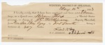 1883 May 16: Partial Voucher, U.S. v. W.J. Lemons, James Wade, Hiram P. Thorp, introducing spirituous liquor in Indian Country; includes costs of mileage, 11 days feeding 1 prisoner; Albert McCoy, guard; served by J.C. Wilkinson, U.S. deputy marshal; Stephen Wheeler, commissioner and clerk