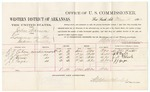 1883 May 04: Voucher, U.S. v. John Warren, larceny in Indian Country; includes costs of mileage and per diem for witnesses; G.M. Eaton, C.G. Taylor, J.N. Black, J.J. Gage, witnesses; received of Thomas Boles, U.S. marshal; Stephen Wheeler, commissioner and clerk