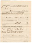 1883 June 01: Partial Voucher, U.S. v. James Harris, Peter Ward et al, larceny in the Indian Country; includes costs of mileage, 9 days feeding 1 prisoner; George Colbert, James Baker, witnesses; William Fields, special bailiff; served by J.H. Mershon, deputy marshal; Stephen Wheeler, commissioner