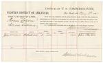 1883 May 09: Voucher, U.S. v. Thomas Bottom, illicit distilling; includes cost of per diem for witness; John McWeir, witness; received of D.P. Upham, U.S. marshal; Stephen Wheeler, commissioner and clerk; Thomas Boles, U.S. marshal