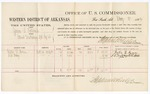1883 May 10: Voucher, U.S. v. James L. Patterson, illicit distilling of spirituous liquor; includes costs of per diem and mileage for witnesses; Foster L. Brown, S. R. Terry, witnesses; Seth Boles, witness to signatures; received of Thomas Boles, U.S. marshal; Stephen Wheeler, commissioner and clerk